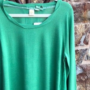 ANTHRO *NWT* Yellow Bird Roslin Green Pullover XL